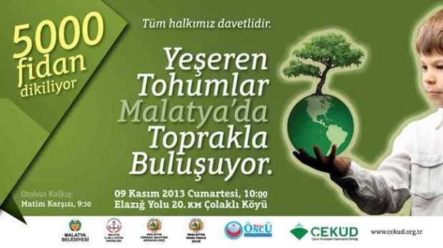 Yeşeren 5 Bin Fidan Malatya'da Toprakla Buluşacak