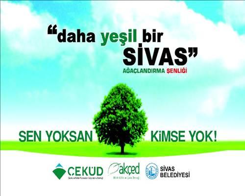 ÇEKÜD'den Sivas'ın Üşüyen Topraklarına Binlerce Fidan