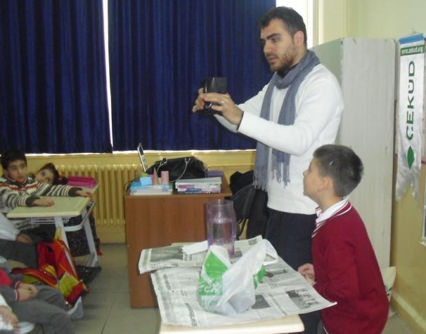 Halil Rüştü İlköğretim Okulunda Tohumdan Fidana