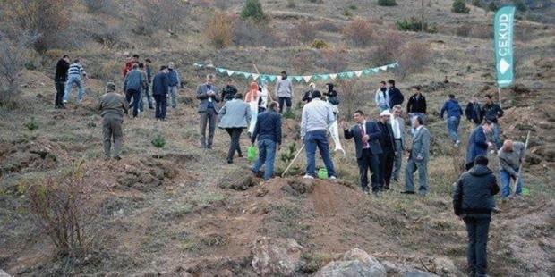 ÇEKÜD'den Süleymaniye'ye 700 Fidan