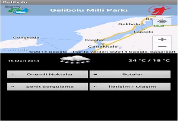 Gelibolu Yarımadası Tarihi Milli Parkı Artık Cep Telefonunda