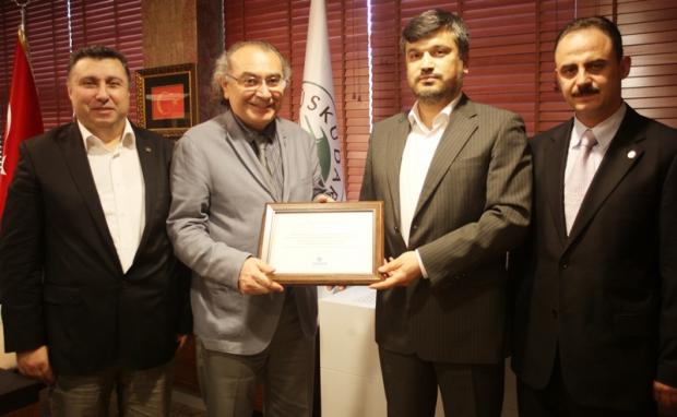 Prof.Dr. Nevzat Tarhan'a Teşekkür Sertifikası