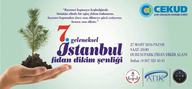 Geleneksel İstanbul Fidan Dikim Şenliği 27 Mart'ta