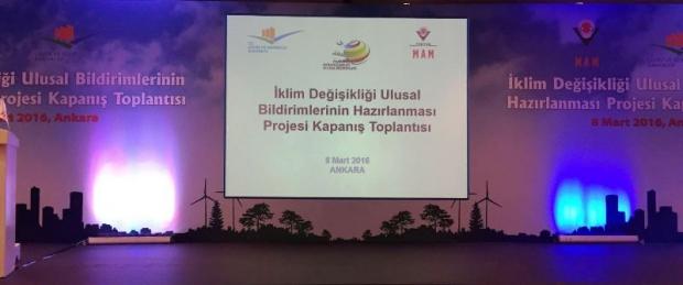 ÇEKUD, İklim Değişikliği Bildirimlerinin Hazırlanması Projesi Kapanış Toplantısı'na Katıldı