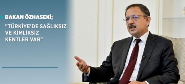"""Bakan Özhaseki; """"Türkiye'de sağlıksız ve kimliksiz kentler var"""""""