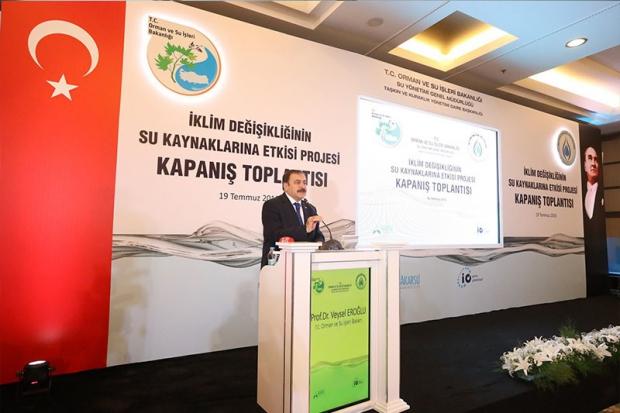 ÇEKUD, İklim Değişikliğinin Su Kaynaklarına Etkisi Projesi Kapanış Toplantısına Katıldı