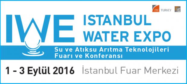 IWE Istanbul Water Expo – İstanbul Su ve Atıksu Arıtma Teknolojileri Fuarı ve Konferansı, 1-3 Eylül'de